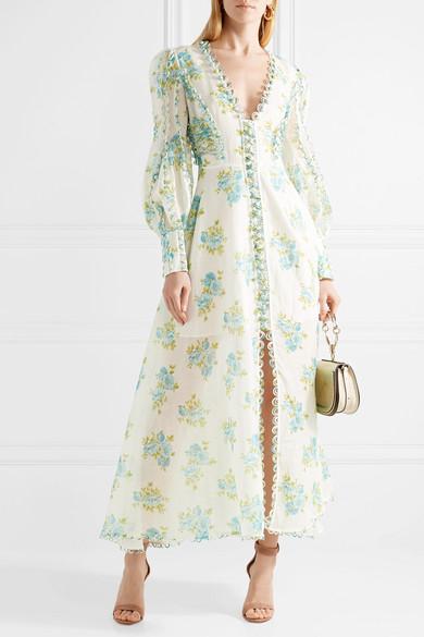 3da2e4e7a959 Zimmermann | Whitewave Honeymooners floral-print linen maxi dress ...