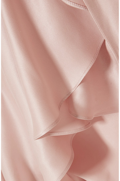 37f990426331a Zimmermann. Ruffled washed-silk wrap dress. HK 3