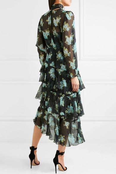 Zimmermann Whitewave Kleid aus bedrucktem Georgette aus einer Seidenmischung mit eingewebten Punkten