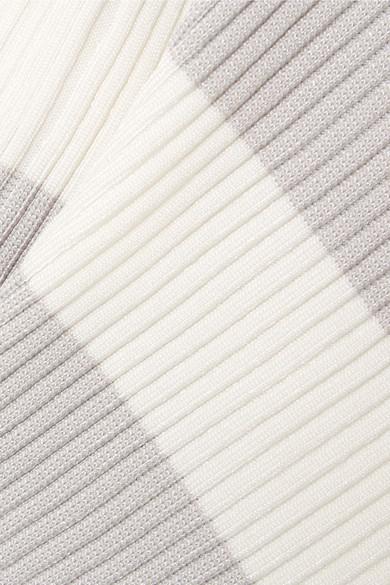 Zimmermann Whitewave verkürzter Pullover aus gestreiftem Rippstrick