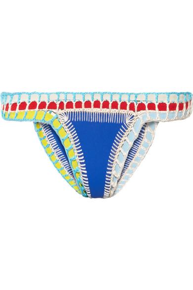 Kiini Tuesday Bikini-Höschen mit Häkelbesatz
