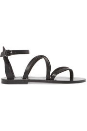 Fusain leather sandals