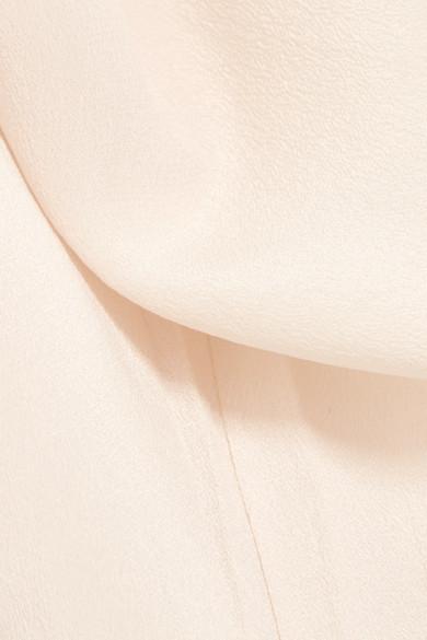 Anine Bing Top aus vorgewaschener Seide mit Spitzenbesatz