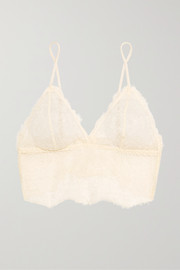 Stretch-lace soft-cup bra
