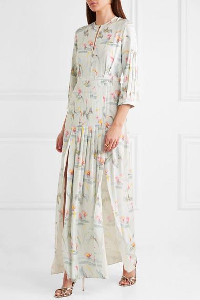 Vilshenko Eloise Maxikleid aus Seide mit floralem Print