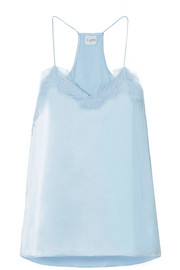 Cami NYC Racer lace-trimmed silk-charmeuse camisole