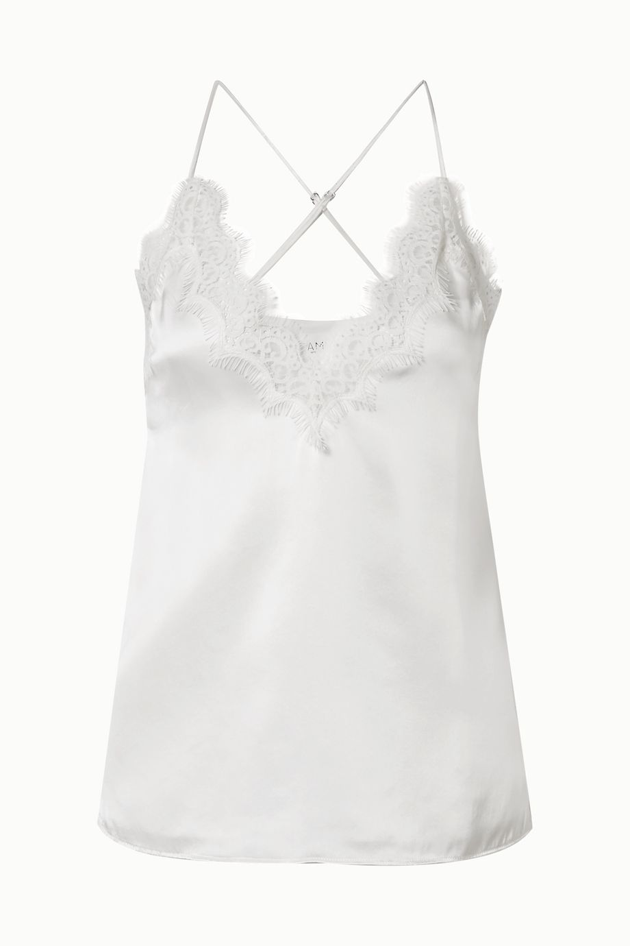 Cami NYC Everly lace-trimmed silk-charmeuse camisole