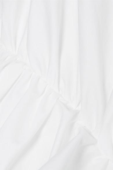 Johanna Ortiz Bora Bora Bluse aus Popeline aus einer Baumwollmischung mit Rüschen