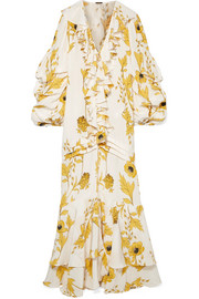 Johanna Ortiz Spice Trade ruffled floral-print silk-crepe gown