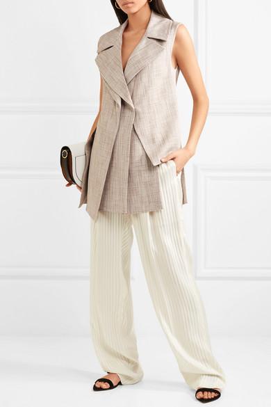 Victoria Beckham Mehrlagige Weste aus Tweed