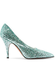 Dorothy glittered canvas pumps