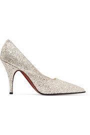 Victoria Beckham Dorothy glittered canvas pumps