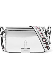 Off-White Faux mirrored-leather shoulder bag
