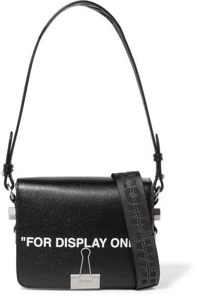 Off-White - Printed Leather Shoulder Bag - Black