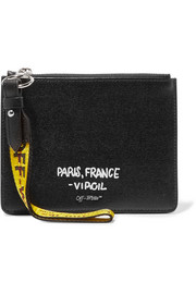Off-White Printed textured-leather pouch