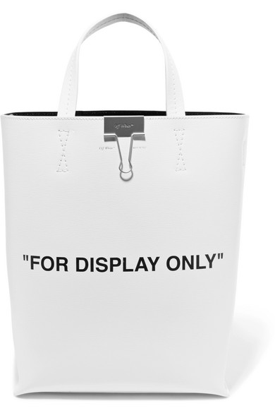 Off-White - Printed Textured-leather Tote