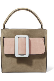 Boyy Devon 21 color-block suede and leather tote