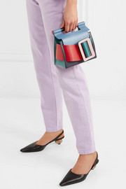 Romeo color-block leather clutch