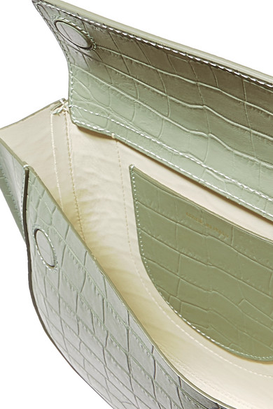 Wandler Hortensia kleine Schultertasche aus Leder mit Krokodileffekt