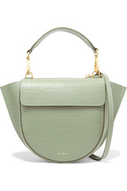 Hortensia mini croc-effect leather shoulder bag