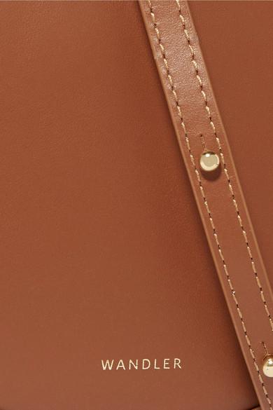 Wandler Hortensia kleine Schultertasche aus Leder