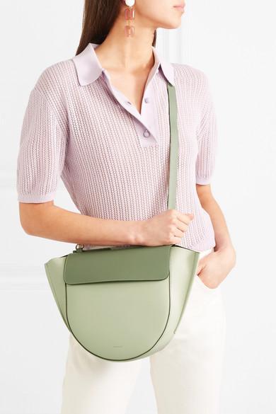 Wandler Hortensia mittelgroße Schultertasche aus Leder