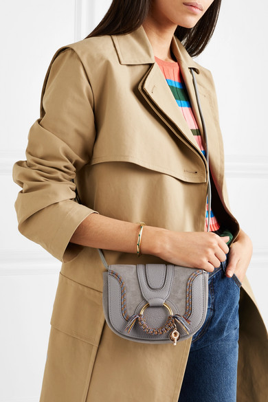 922ce93c694f6 See By Chloé. Hana mini textured-leather and suede shoulder bag