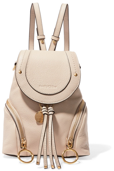 Olga Medium Textured-leather Backpack - Tan See By Chlo A3s46NHep