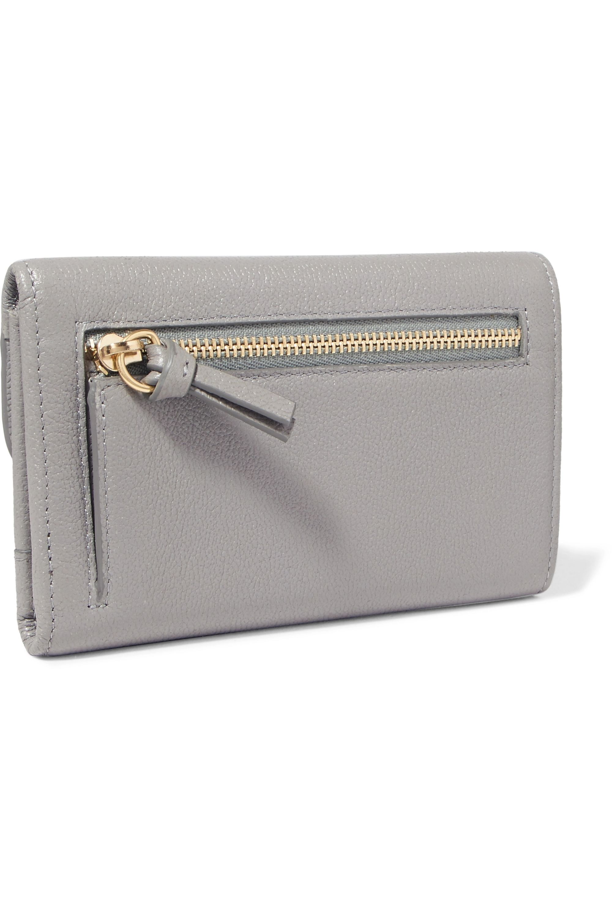 See By Chloé Polina scalloped textured-leather wallet