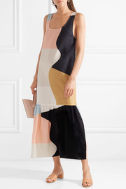 Mara Hoffman Valentina color-block organic cotton-voile maxi dress