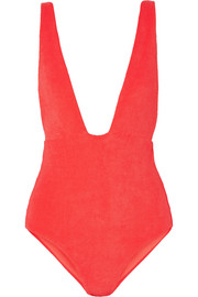Audrey cotton-blend terry swimsuit