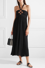 Mara Hoffman Annika cutout crepon halterneck dress