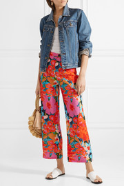 Mara Hoffman Arlene floral-print Tencel and linen-blend flared pants