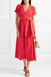 Mara Hoffman Ingrid textured-organic cotton wrap dress