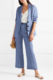 Mara Hoffman Arlene striped organic linen-twill flared pants