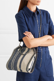 Stella McCartney Falabella striped canvas shoulder bag