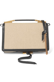 Stella McCartney Flo faux leather-trimmed canvas shoulder bag