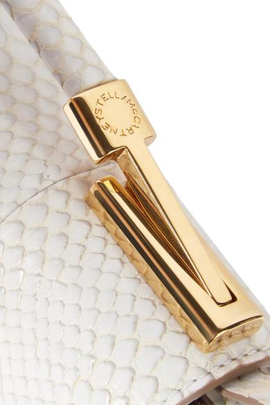 cff67f662956 Stella McCartney. Sac porté épaule en cuir synthétique effet python Flo.  €990. Zoom
