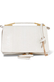 Stella McCartney Flo python-effect faux leather shoulder bag