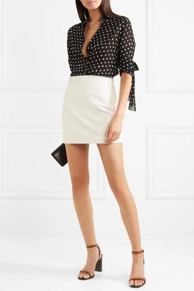 Saint Laurent Miniskirt Of Leather