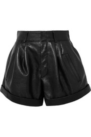 Saint Laurent Short en cuir