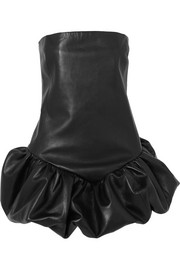 Saint Laurent Mini-robe bustier en cuir