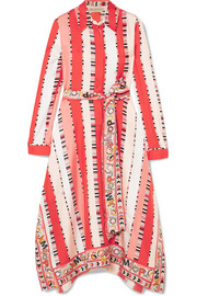 Emilio Pucci Printed silk-twill midi dress