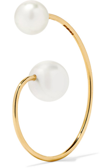 Sophie Bille Brahe Petite Babylon 14-karat Gold Pearl Earring cZjttvU1Q0