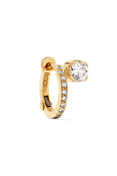 Croissant Amelia 18-karat Gold Diamond Earring - one size Sophie Bille Brahe gOlbna1NUZ
