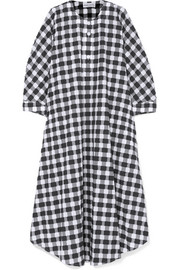Sonia Rykiel Gingham cotton-poplin midi dress