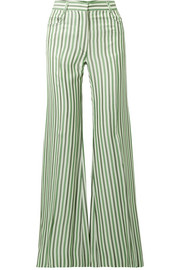 Sonia Rykiel Striped duchesse-satin wide-leg pants