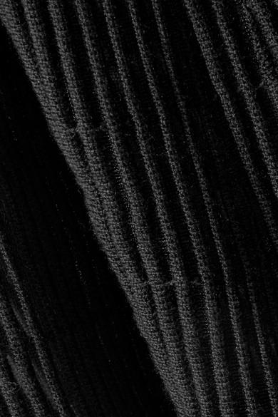 Sonia Rykiel Oberteil aus einer gerippten Wollmischung mit Cape-Effekt