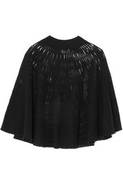 Sonia Rykiel Cape-effect ribbed wool-blend top