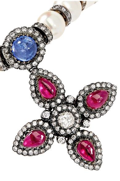 Pearl, Diamond, Tanzanite And Ruby Bracelet - White Amrapali